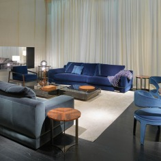 FF Madison sofas, Quadrum Marble coffee table, Kathy armchair, Berenice chairs, Galileo table